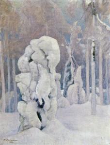 Pekka-Halonen-Kinahmin-Talvea-1933